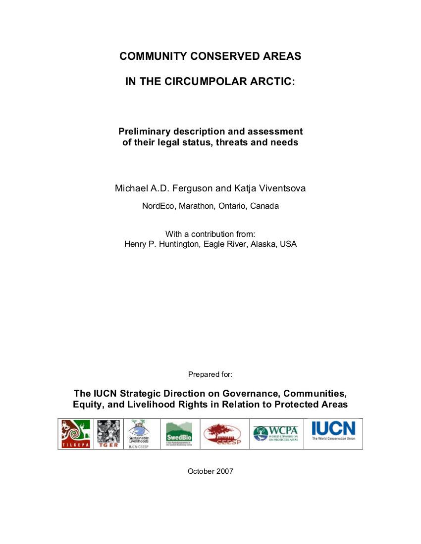 The Circumpolar Arctic: Nunavut (Canada) and Russia