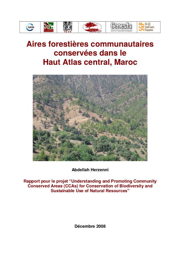 Aires forestières communautaires conservées dans le Haut Atlas central