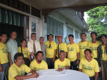 CALG members after the meeting with Vice-Governor Dennis Socratess