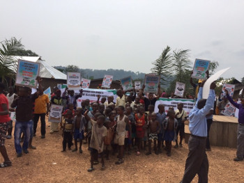 """Support the struggle of the Consortium's member Ekuri Initiative to prevent the destruction of their community forest to develop a dubiously useful """"super-highway""""!"""