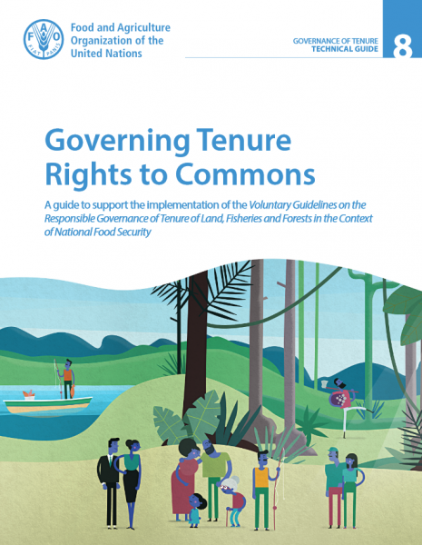 Governing Tenure Rights to Commons: A guide to support the implementation of the Voluntary Guidelines on the Responsible Governance of Tenure of Land, Fisheries and Forests in the Context of National Food Security