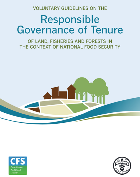 FAO Voluntary Guidelines on the Responsible Governance of Tenure of Land, Fisheries and Forests in the Context of National Food Security