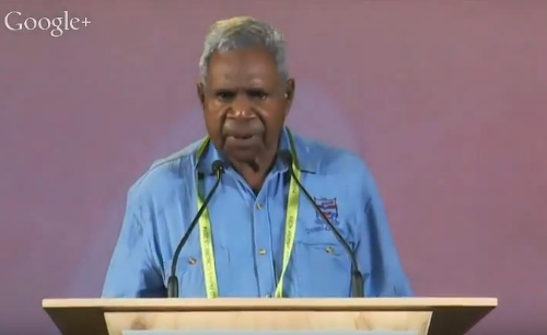 Uncle Claude at the World Parks Congress, Sydney 2014