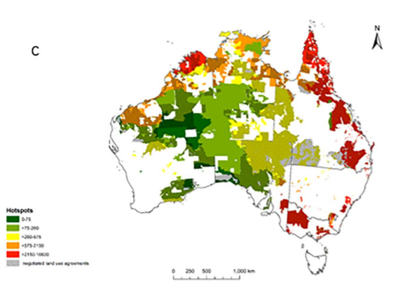 Mapping Indigenous land management for threatened species conservation: An Australian case-study