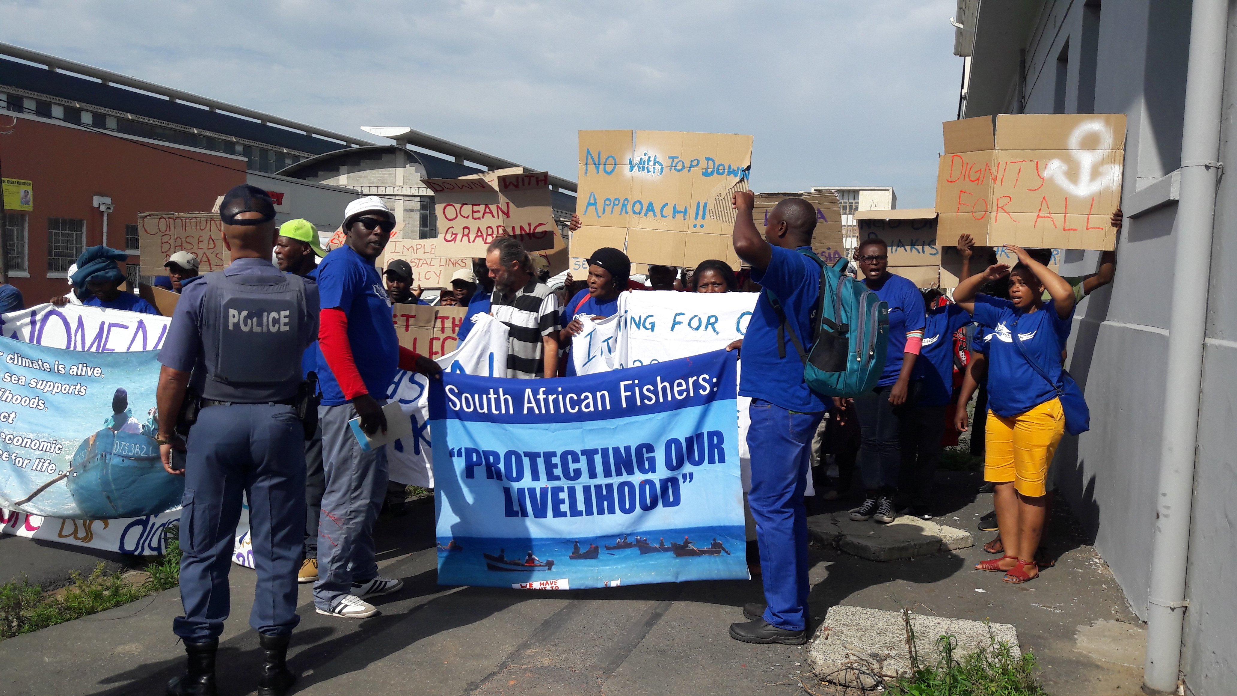 Coastal communities and small-scale fishers in South Africa voice their concerns about the exploitation of the ocean economy on World Fisheries Day