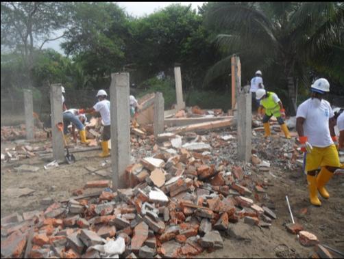 La respuesta comunitaria a las consecuencias de un fuerte terremoto en Ecuador