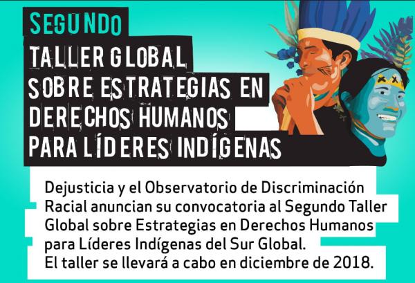 Segundo Taller Global para Líderes Indígenas