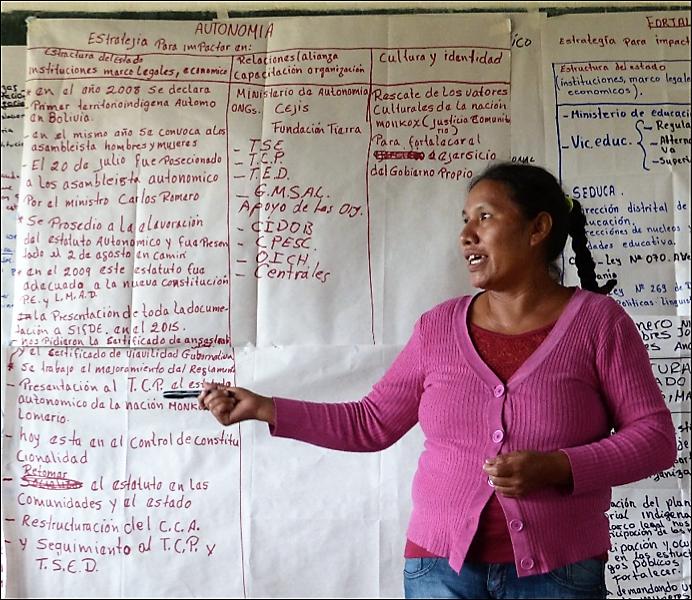 Investigación-acción y fortalecimiento de capacidades sobre la autonomía indígena como estrategia de gestión y control territorial, en Bolivia