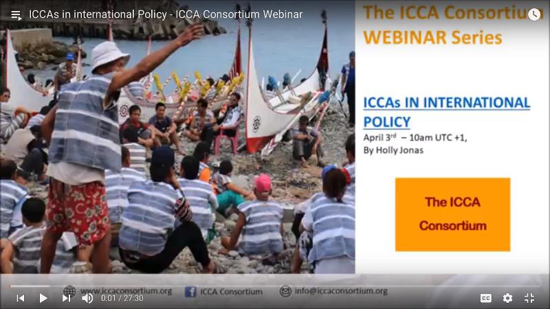 ICCAs in international Policy – ICCA Consortium Webinar