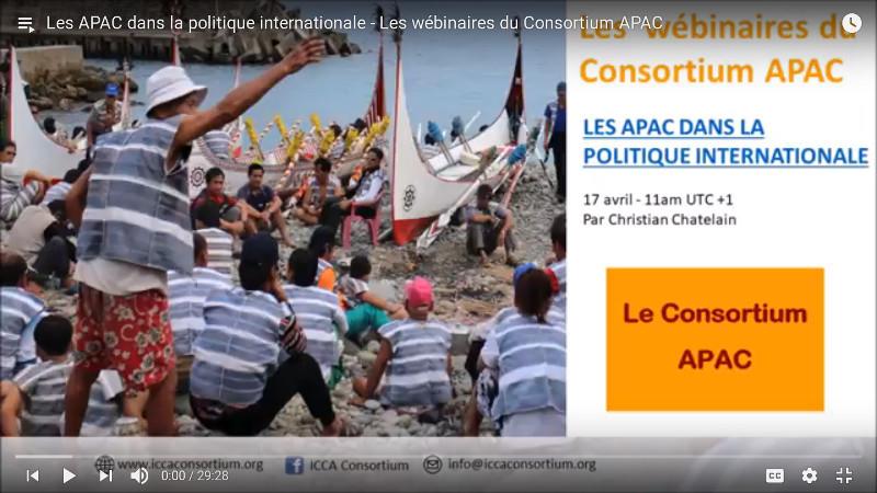 Les APAC dans la politique internationale – Les webinaires du Consortium APAC