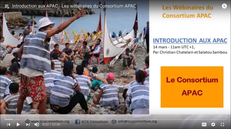 Introduction aux APAC – Les webinaires du Consortium APAC