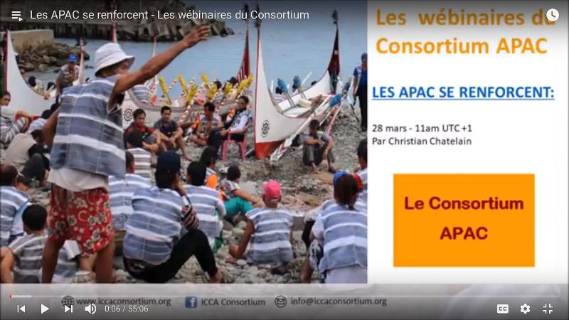 Les APAC se renforcent – Les webinaires du Consortium