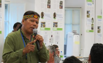 "José Maria Gualinga participation in the GFC event ""Fostering Community Conservation"""