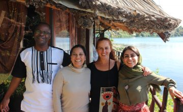 Alexis Kaboré, Tanya Conlu, Lorena Arce  and Ghanimat Azhdari presenting the regionalisation