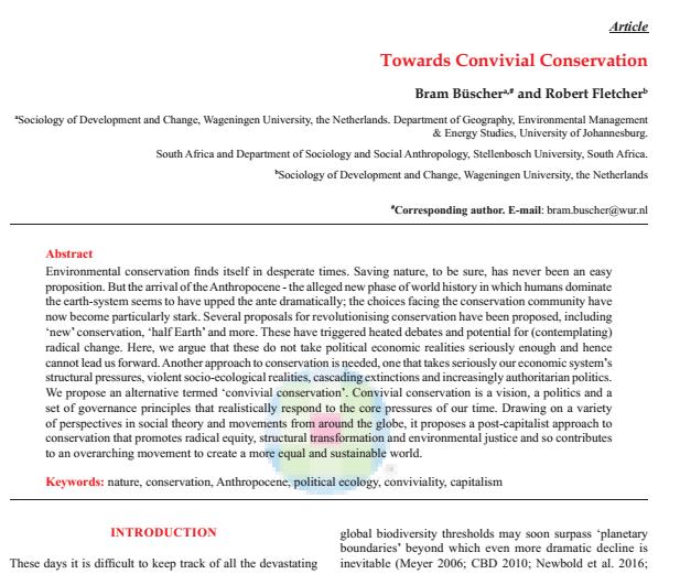 Towards Convivial Conservation