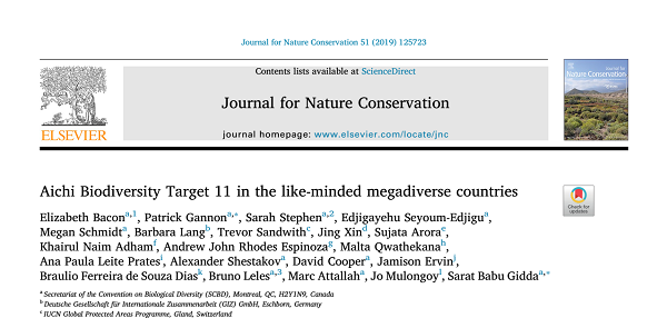 Aichi Biodiversity Target 11 In The Like-Minded Megadiverse Countries