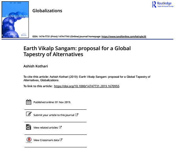 Earth Vikalp Sangam: Proposal for a Global Tapestry of Alternatives