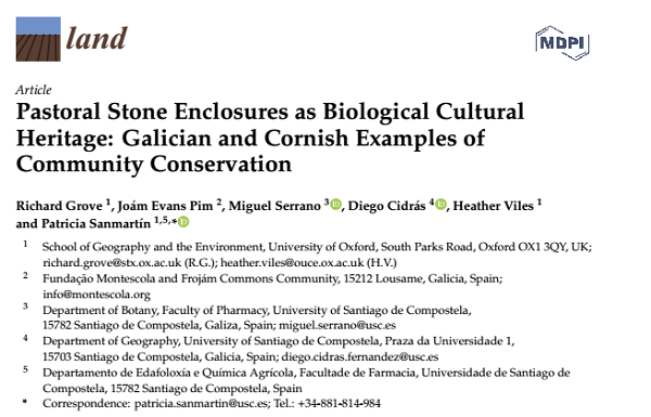 Pastoral Stone Enclosures as Biological Cultural Heritage: Galician and Cornish Examples of Community Conservation