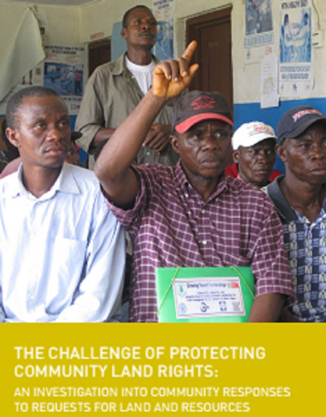 New Report: The Challenge of Protecting Community Land Rights