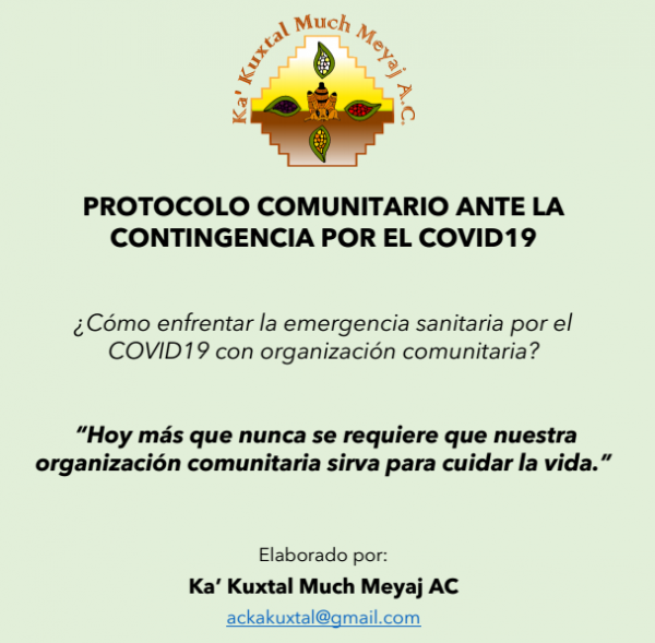 Protocolo Comunitario Ante la Contingencia por el COVID 19