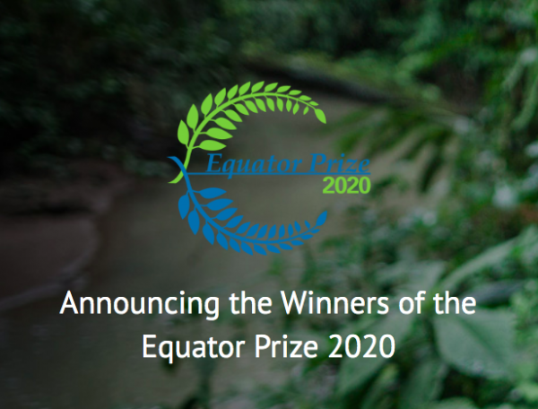 Congratulations to the 2020 Equator Prize Winners!