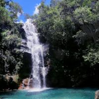 Cachoeira Santa Bárbara no kalunga comunidade