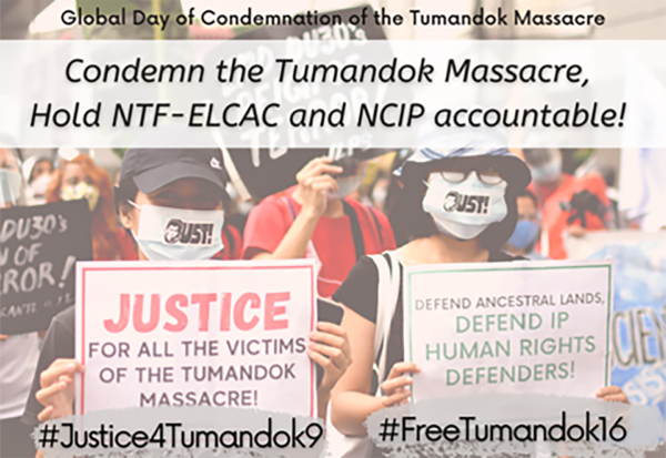 Alert: Indigenous Tumandok demand a halt to violence against them and their ancestral domain in the Philippines