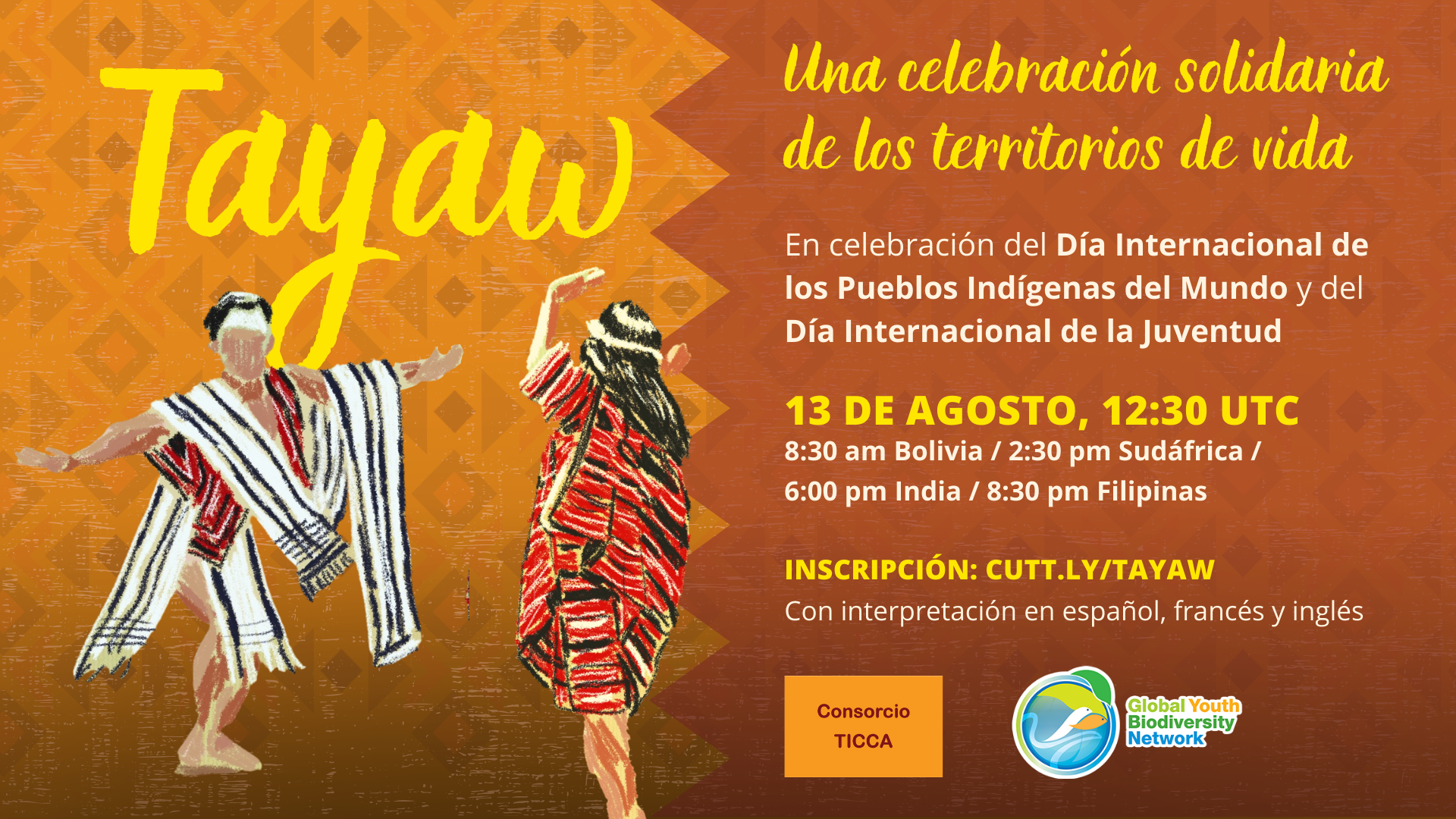 Te invitamos a TAYAW: Una celebración solidaria de los territorios de vida