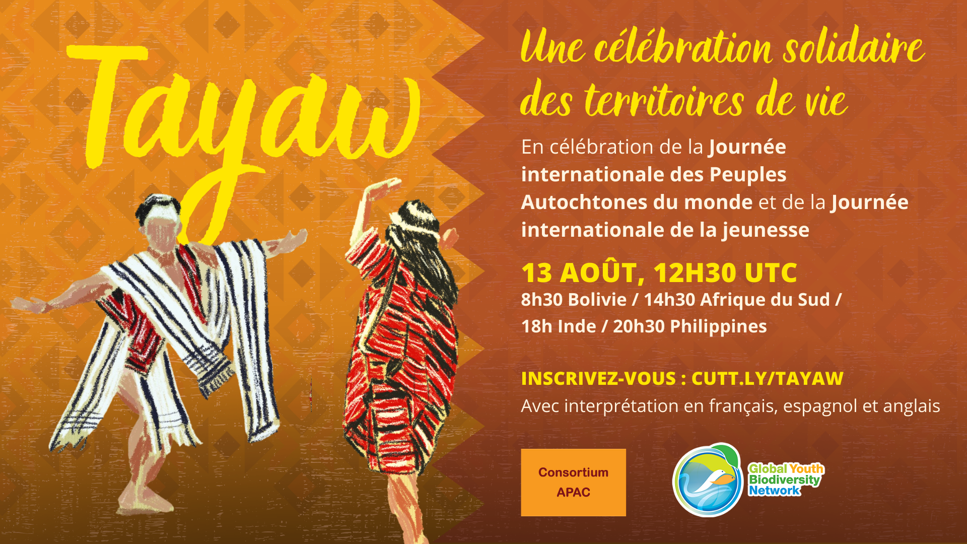 Nous vous invitons à TAYAW : une célébration solidaire des territoires de vie